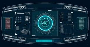 Realistische Abbildung Vektorabbildung für Ihr design Telefon mit Planetenerde und binärem Code Futuristische Benutzerschnittstel Stockbild