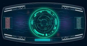 Realistische Abbildung Vektorabbildung für Ihr design Telefon mit Planetenerde und binärem Code Futuristische Benutzerschnittstel Stockfoto