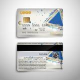Realistische ausführliche Kreditdebitkarte mit abstraktem geometrischem detalied Design Für Gebrauch Vektorillustration EPS10 Lizenzfreie Abbildung