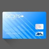 Realistische ausführliche Kreditkarte stock abbildung