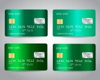 Realistische ausführliche Kreditkarten Lizenzfreie Stockfotografie