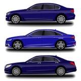 Realistische auto Lange sedan royalty-vrije illustratie