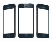 Realistische blaue Handys Illustrationsbild Vektor Lizenzfreies Stockbild