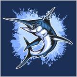 Realistische blauwe Marlijnvissen vector illustratie
