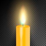 Realistische brennende Abendessen-Kerze Transparenzgitter Spezialeffekt Auch im corel abgehobenen Betrag Stockfoto