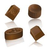 Realistische chololate Süßigkeit lokalisiert Stockbild
