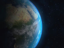 Realistische 3D Aardebol Elementen van dit die beeld door NASA wordt geleverd Stock Afbeelding