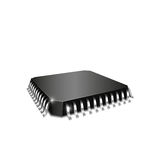 Realistische 3d cpu chipset Royalty-vrije Stock Afbeelding