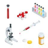 Realistische 3d van de de noodsituatieeerste hulp van c medische geplaatste de zorgpictogrammen Stock Afbeelding