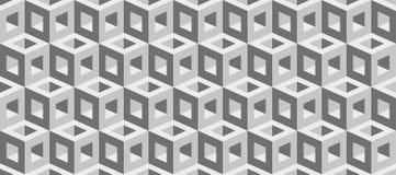Realistische 3d vectorkubussentextuur, geometrisch naadloos patroon, ontwerpachtergrond voor u projecten vector illustratie