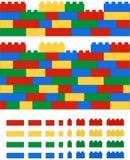 Realistische 2D Vektor lego Wand Lizenzfreies Stockfoto