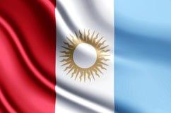 Realistische de vlagillustratie van Cordoba vector illustratie