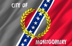 Realistische de vlagillustratie van Montgomery Alabama vector illustratie