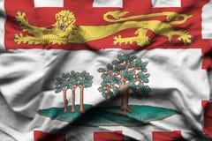 Realistische de vlagillustratie van Prins Edward Eilanden stock illustratie