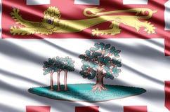 Realistische de vlagillustratie van Prins Edward Eilanden royalty-vrije illustratie