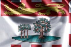 Realistische de vlagillustratie van Prins Edward Eilanden vector illustratie