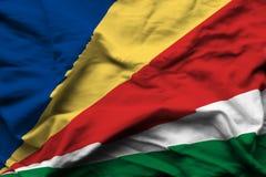 Realistische de vlagillustratie van Seychellen stock illustratie