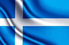 Realistische de vlagillustratie van Shetland stock illustratie