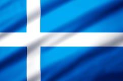 Realistische de vlagillustratie van Shetland royalty-vrije illustratie