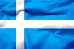 Realistische de vlagillustratie van Shetland vector illustratie