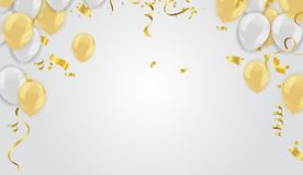 Realistische defocused de voorraad vectorillustratie gouden confettien, g Stock Foto