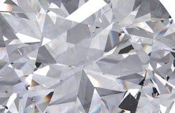 Realistische dichte omhooggaand van de diamanttextuur, 3D geeft terug Stock Foto