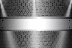 Realistische donkere koolstofvezel Royalty-vrije Stock Foto's