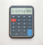 Realistische elektronische calculator Royalty-vrije Stock Foto's