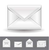 Realistische envelop Royalty-vrije Stock Fotografie