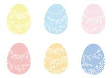 Realistische Farbe-Ostereier eingestellt Traditioneller Dekorationsfeiertag Lizenzfreies Stockfoto