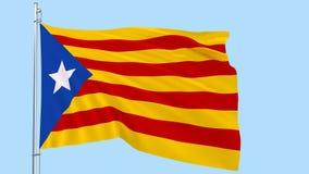 Realistische Flagge Estelada flattert im Wind auf einem transparenten blauen Hintergrund, 3d Wiedergabe, png-Format mit ALPHAtran vektor abbildung