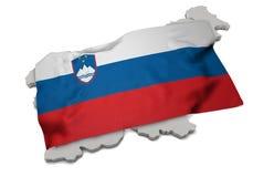 Realistische Flagge, welche die Form von Slovania (Reihen, umfasst) Lizenzfreie Stockfotos