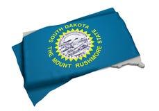 Realistische Flagge, welche die Form von South Carolina (Reihen, umfasst) Lizenzfreies Stockbild