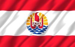 Realistische Flaggenillustration des Französisch-Polynesiens vektor abbildung