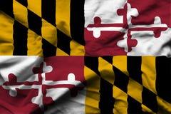 Realistische Flaggenillustration Marylands lizenzfreie abbildung