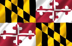 Realistische Flaggenillustration Marylands stock abbildung