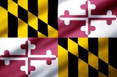Realistische Flaggenillustration Marylands vektor abbildung