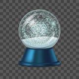 Realistische Gedetailleerde 3d Sneeuwbol Vector Vector Illustratie