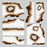 Realistische Geschroeide Stukken van Document Reeks vector illustratie