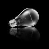 Realistische Glühlampe-Reflexion Stockbilder