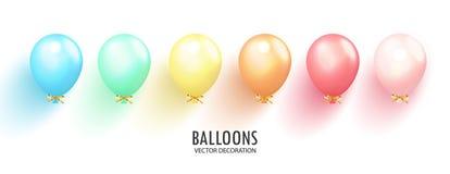 Realistische glanzende ballons op transparante achtergrond Ballons voor Verjaardag, feestelijke gelegenheden, partijen, huwelijke vector illustratie