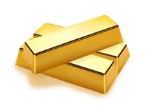 Realistische Goldstäbe Lizenzfreies Stockfoto