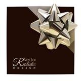 Realistische gouden boog Royalty-vrije Stock Foto