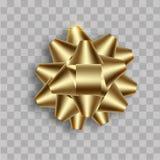 Realistische gouden boog met zachte schaduw Vector stock fotografie