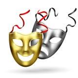 Realistische Gouden Maskerssamenstelling vector illustratie