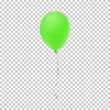 Realistische grüne Ballonikone Lizenzfreies Stockbild