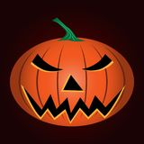 Realistische Halloween-pompoen stock illustratie