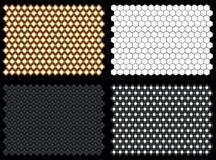 Realistische Hexagon-Flut-Lichter Stockfotos