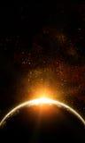 Realistische illustratie van planeten Stock Afbeeldingen
