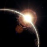 Realistische illustratie van planeten stock illustratie